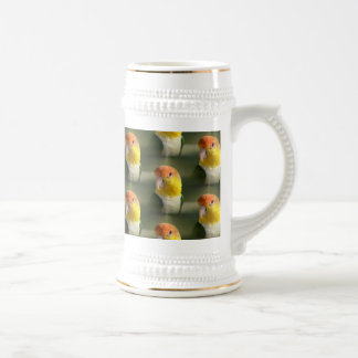 Cute White Bellied Caique Parrot 18 Oz Beer Stein