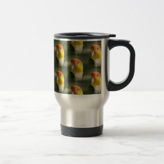 Cute White Bellied Caique Parrot 15 Oz Stainless Steel Travel Mug