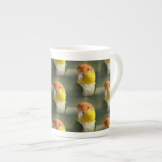 Cute White Bellied Caique Parrot Tea Cup