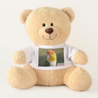 Cute White Bellied Caique Parrot Teddy Bear