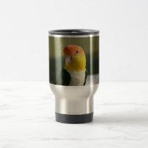 Cute White Bellied Caique Parrot Travel Mug