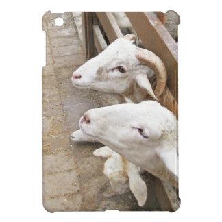Cute white billy goats iPad mini covers