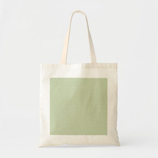 Cute white birds with twisted tail around them on canvas bag