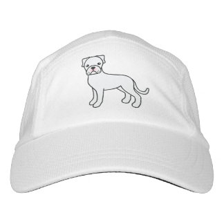 Cute White Boxer Dog Illustration Headsweats Hat