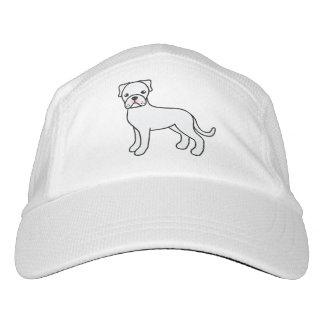 Cute White Boxer Dog Illustration Headsweats Hat