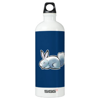 Cute White Bunny Aluminum Water Bottle