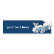 Cute White Bunny Bumper Sticker
