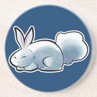Cute White Bunny Coaster