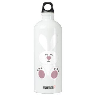 Cute White Bunny Rabbit Aluminum Water Bottle
