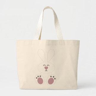 Cute White Bunny Rabbit Jumbo Tote Bag