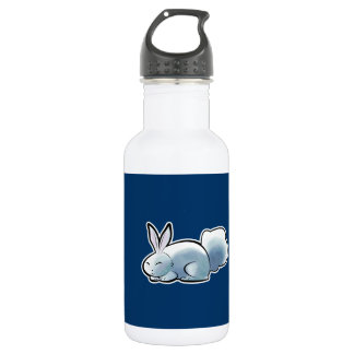 Cute White Bunny Stainless Steel Water Bottle