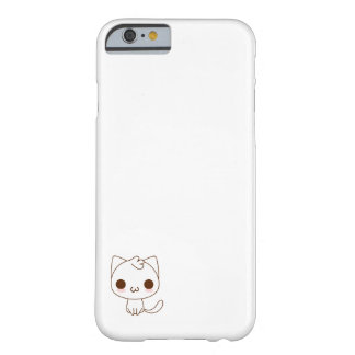 cute white cat barely there iPhone 6 case