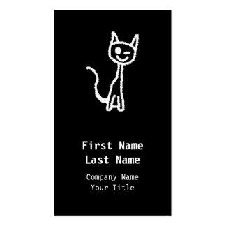 Cute White Cat. Business Card