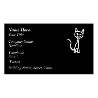 Cute White Cat. Business Card Templates