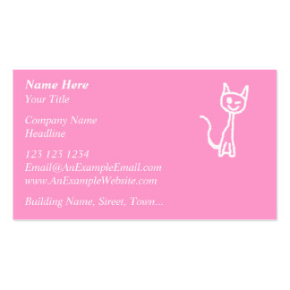 Cute White Cat. Business Cards