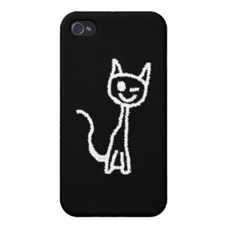 Cute White Cat. Cases For iPhone 4