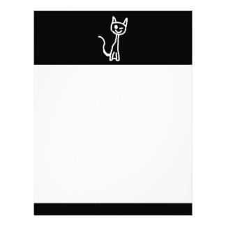 Cute White Cat. Custom Letterhead