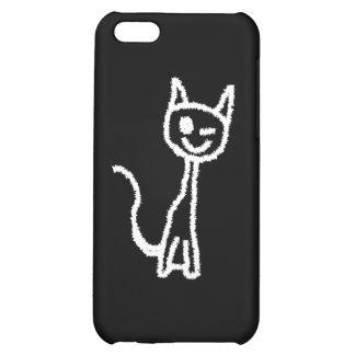 Cute White Cat. iPhone 5C Cases