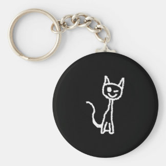 Cute White Cat. Keychains