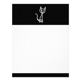 Cute White Cat. Letterhead Template