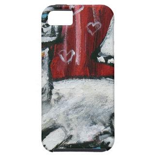 Cute White Cat Love Smile moon iPhone SE/5/5s Case