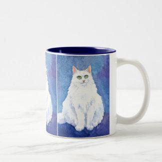Cute white cat or kitten mug