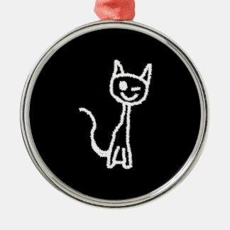 Cute White Cat. Ornament