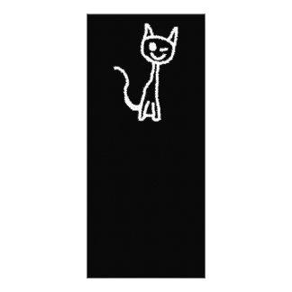 Cute White Cat. Rack Card Template