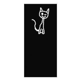Cute White Cat. Rack Cards