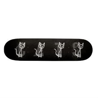 Cute White Cat. Skate Board Decks