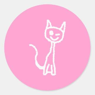 Cute White Cat. Sticker