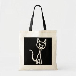 Cute White Cat. Tote Bags