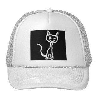 Cute White Cat. Trucker Hat