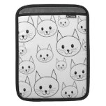 Cute White Cats Pattern. iPad Sleeves
