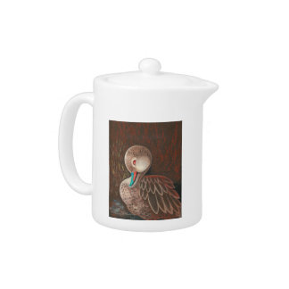 Cute White Cheeked Pintail Duck Painting