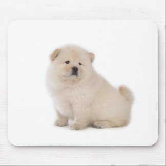 cute white chow chow puppy pup dog mousepads