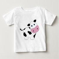 Cute White Cow Baby T-Shirt