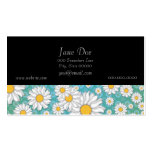 Cute White Daisies on Blue Green Double-Sided Standard Business Cards (Pack Of 100)