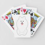 Cute White Dog. Spitz or Pomeranian. Card Decks