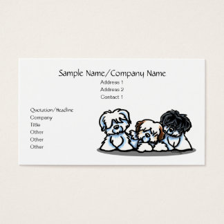 Cute White Dogs Pet Business Simple Business Card