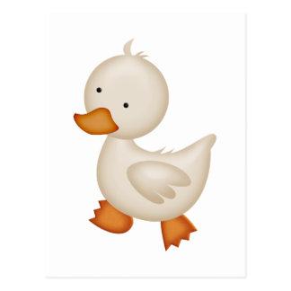 Cute White Duck Postcard