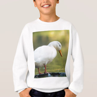 Cute White Duck Sweatshirt