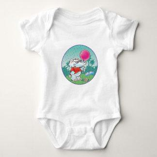 cute white elephant with balloon baby bodysuit