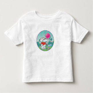 cute white elephant with balloon toddler t-shirt