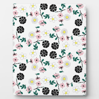 Cute white floral plaque