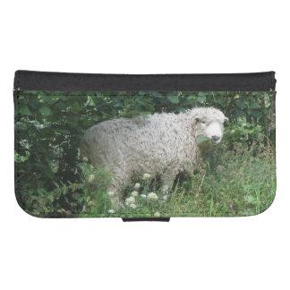 Cute White Fluffy Sheep Eating Samsung Case