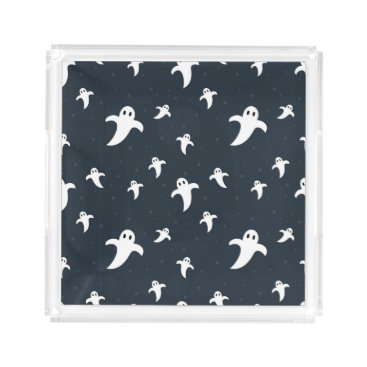 Halloween Themed Cute white ghosts acrylic tray