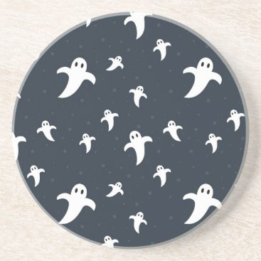Halloween Themed Cute white ghosts drink coaster