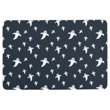 Halloween Themed Cute white ghosts floor mat