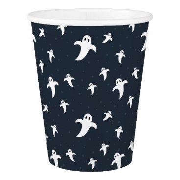 Halloween Themed Cute white ghosts paper cup